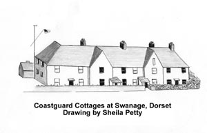 The coastguard cottages at Warsash, Hampshire, c1900