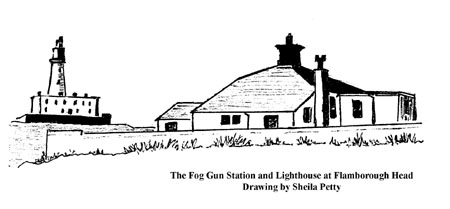 The Fog Gun Station and Lighthouse at Flamborough Head
