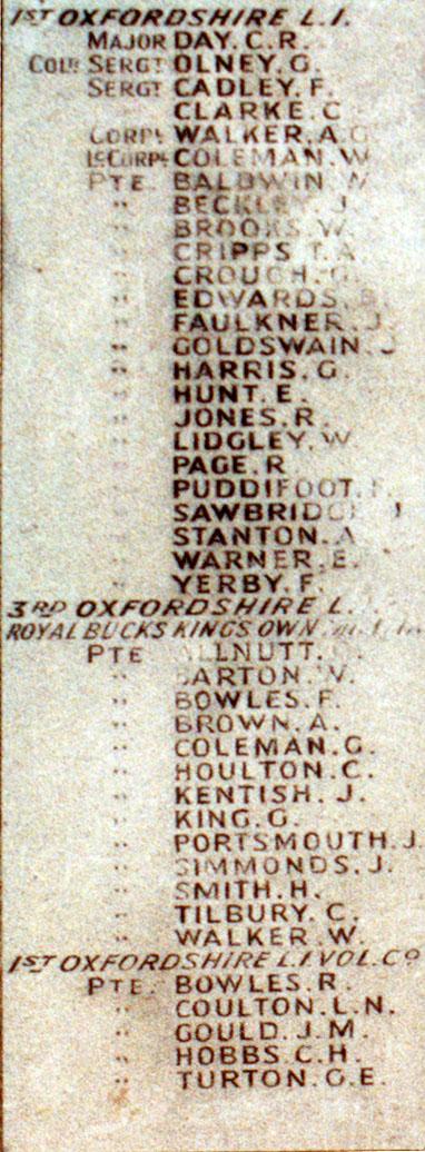 Boer War Memorial, Coombe Hill, Wendover - Panel 1