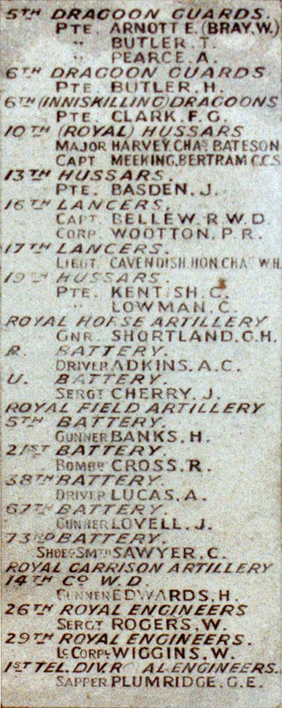 Boer War Memorial, Coombe Hill, Wendover - Panel 3
