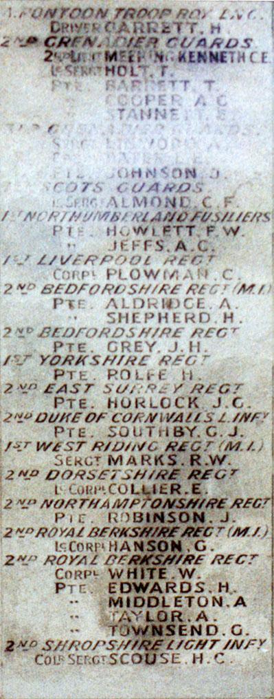 Boer War Memorial, Coombe Hill, Wendover - Panel 4