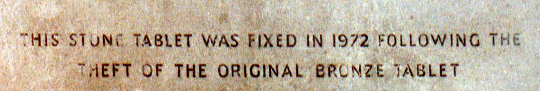 Boer War Memorial, Coombe Hill, Wendover - Bottom Panel