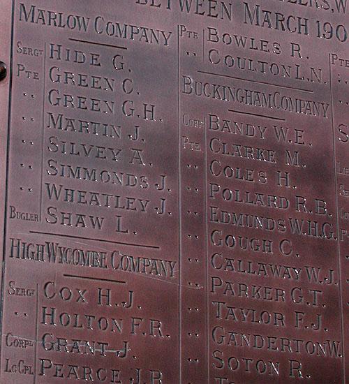 Boer War Memorial, Market Square, Aylesbury
