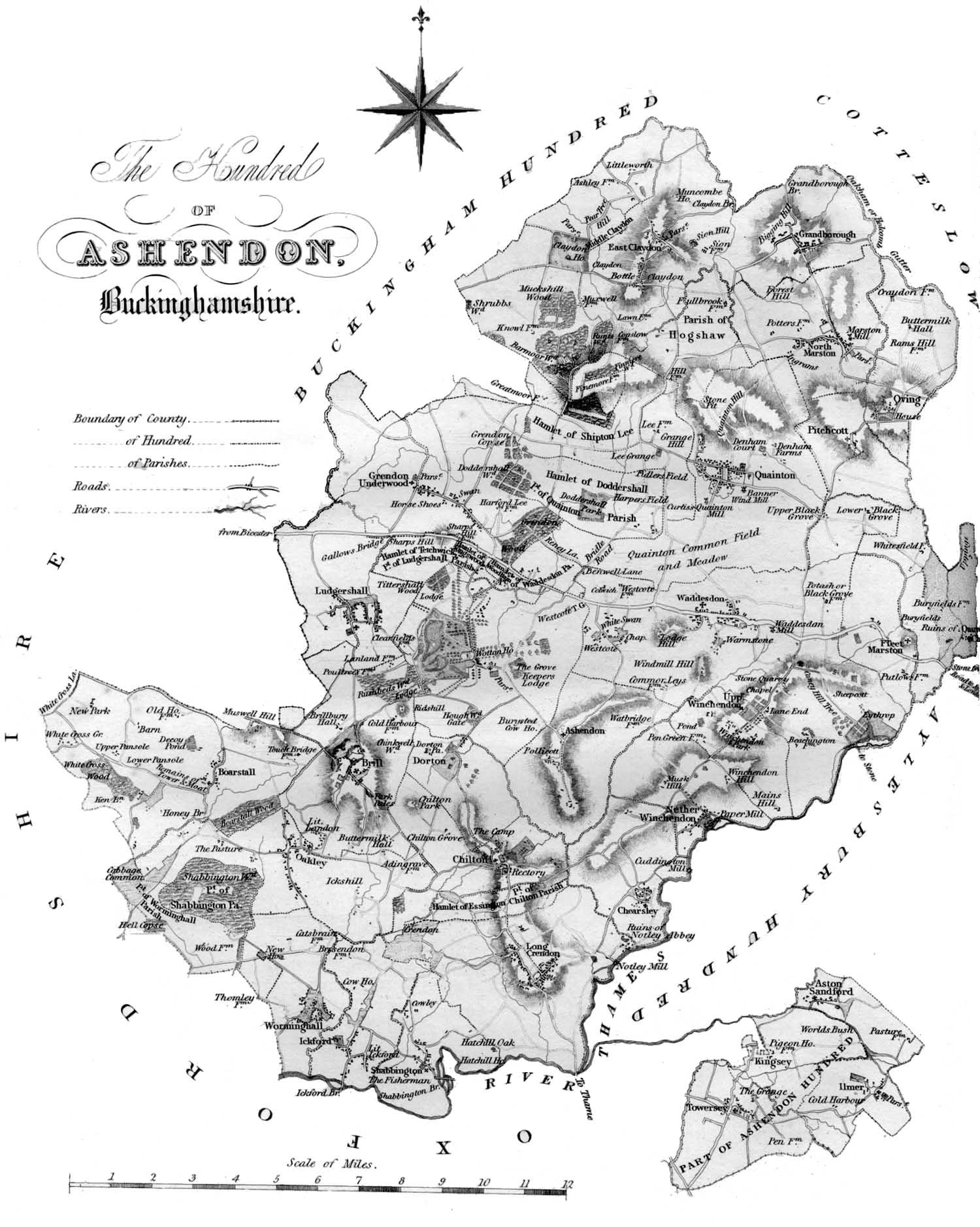 Map of the Ashendon Hundred