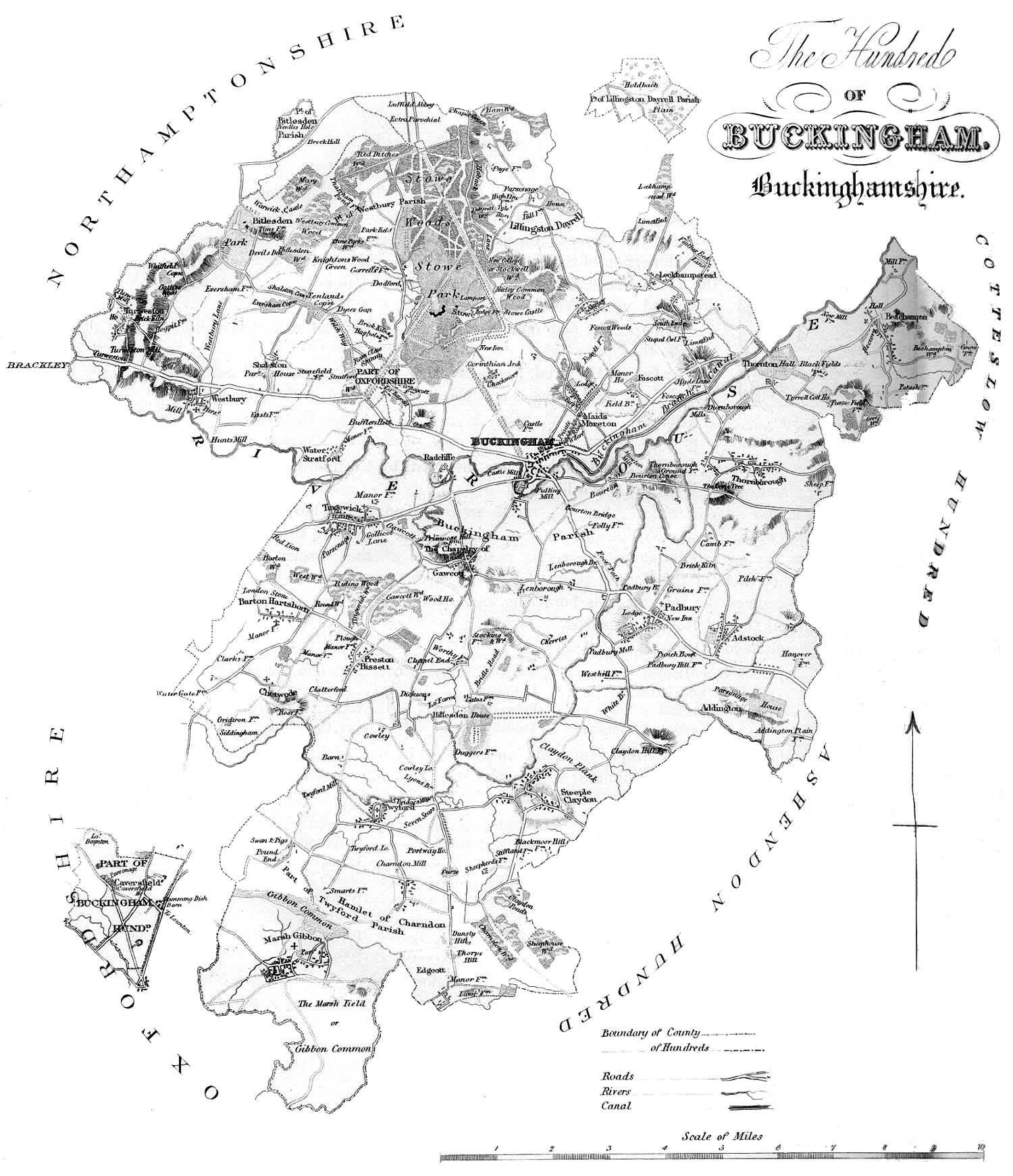 Map of the Buckingham Hundred
