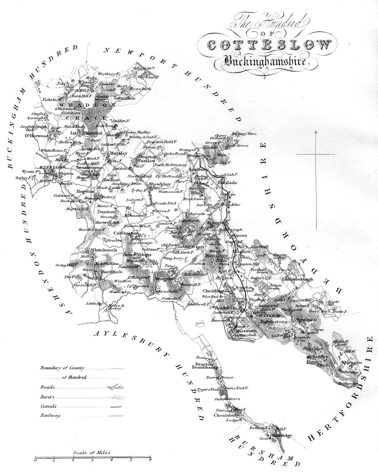 Map of Cottesloe Hundred