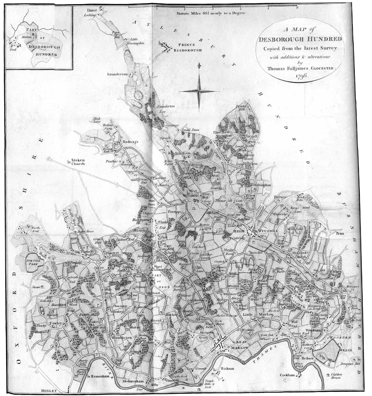 1796 Map of Desborough Hundred