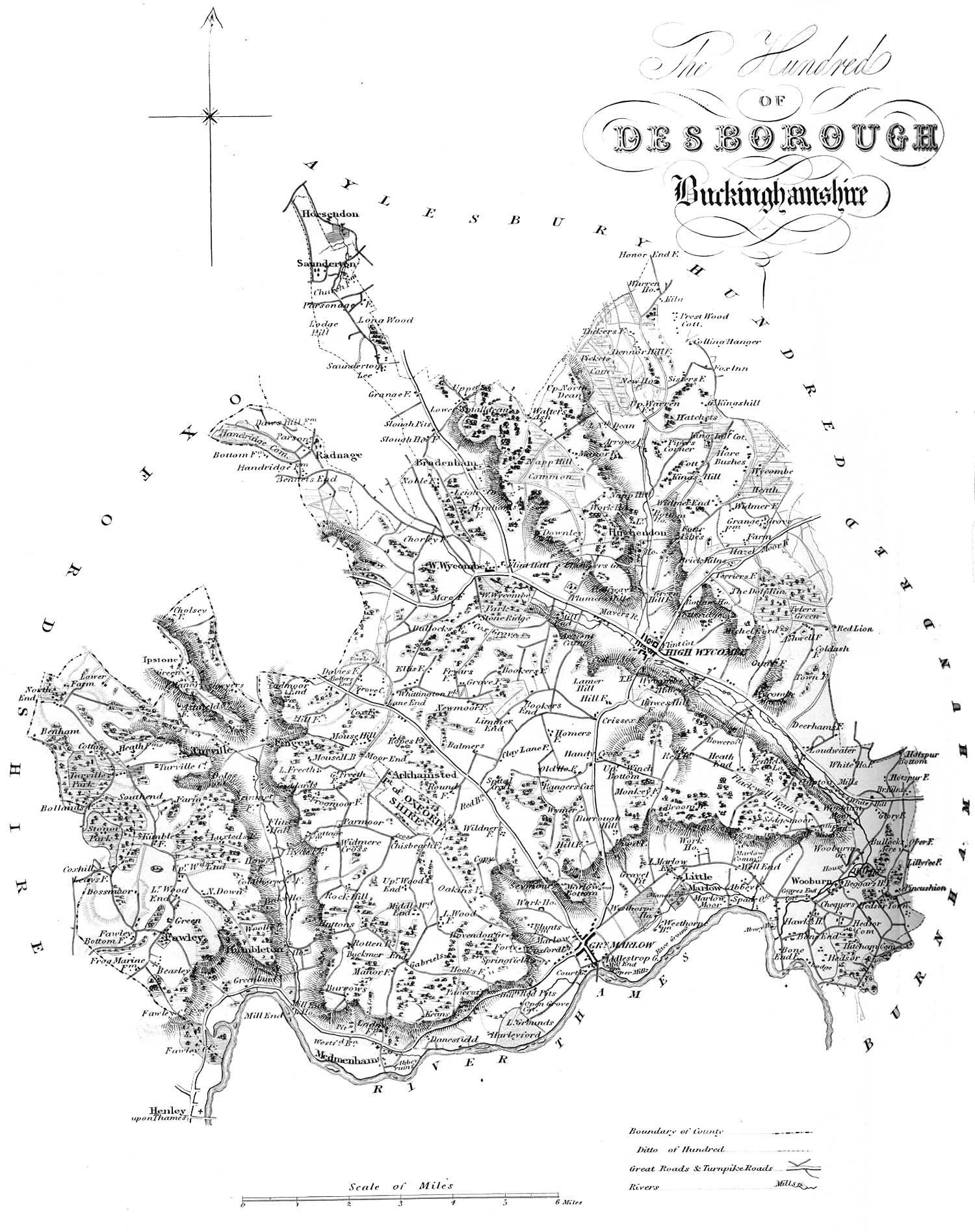 1847 Map of Desborough Hundred