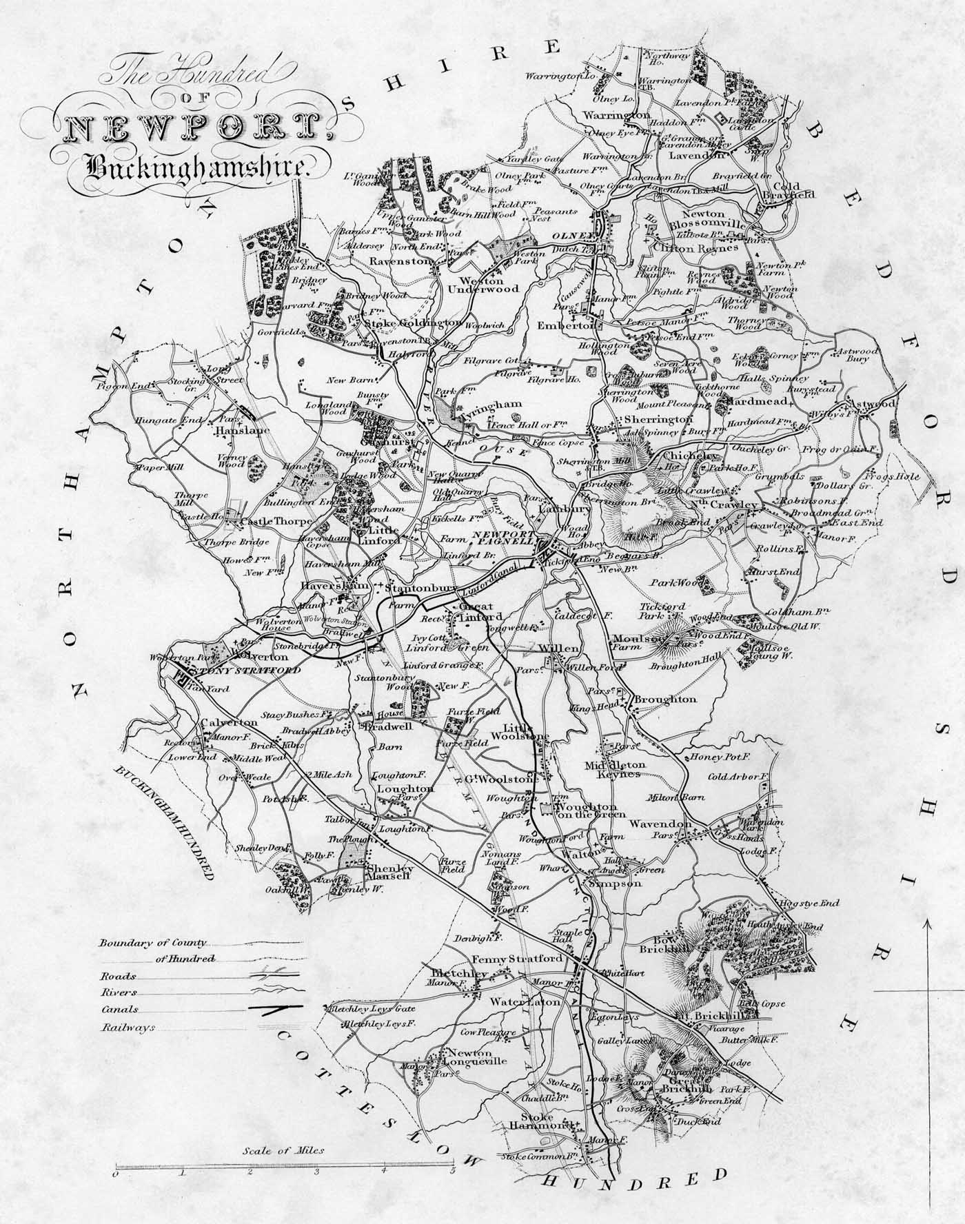 Map of Newport Hundred