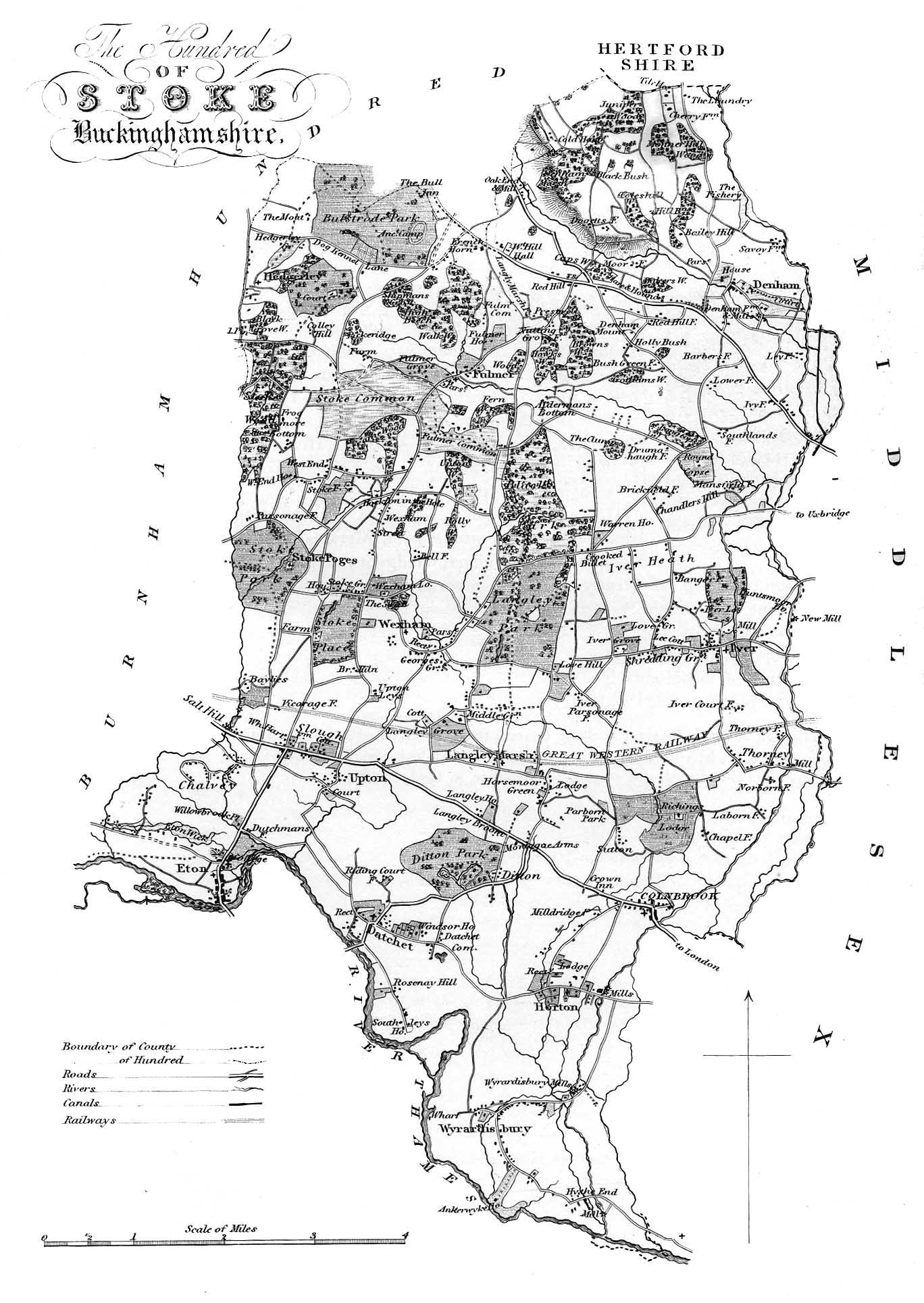 Map of Stoke Hundred