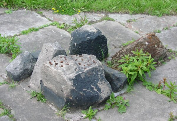 Stones on Church Walk mentioned on the previous photograph.