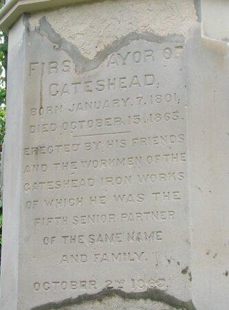 Inscription on monument.