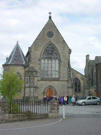 St Joseph's Church on High West Street (1859). The first R.C. church in Gateshead.