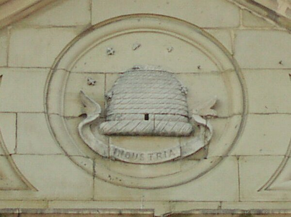 Beehive symbol from Co-op frontage.