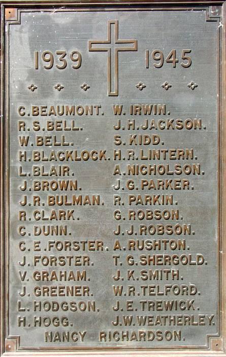 Hookergate Grammar School War Memorial