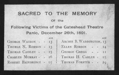 Memoriam Card