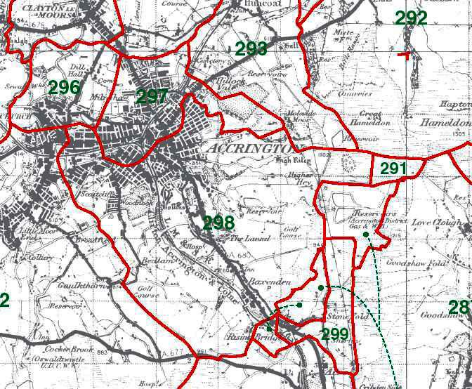 Accrington Map