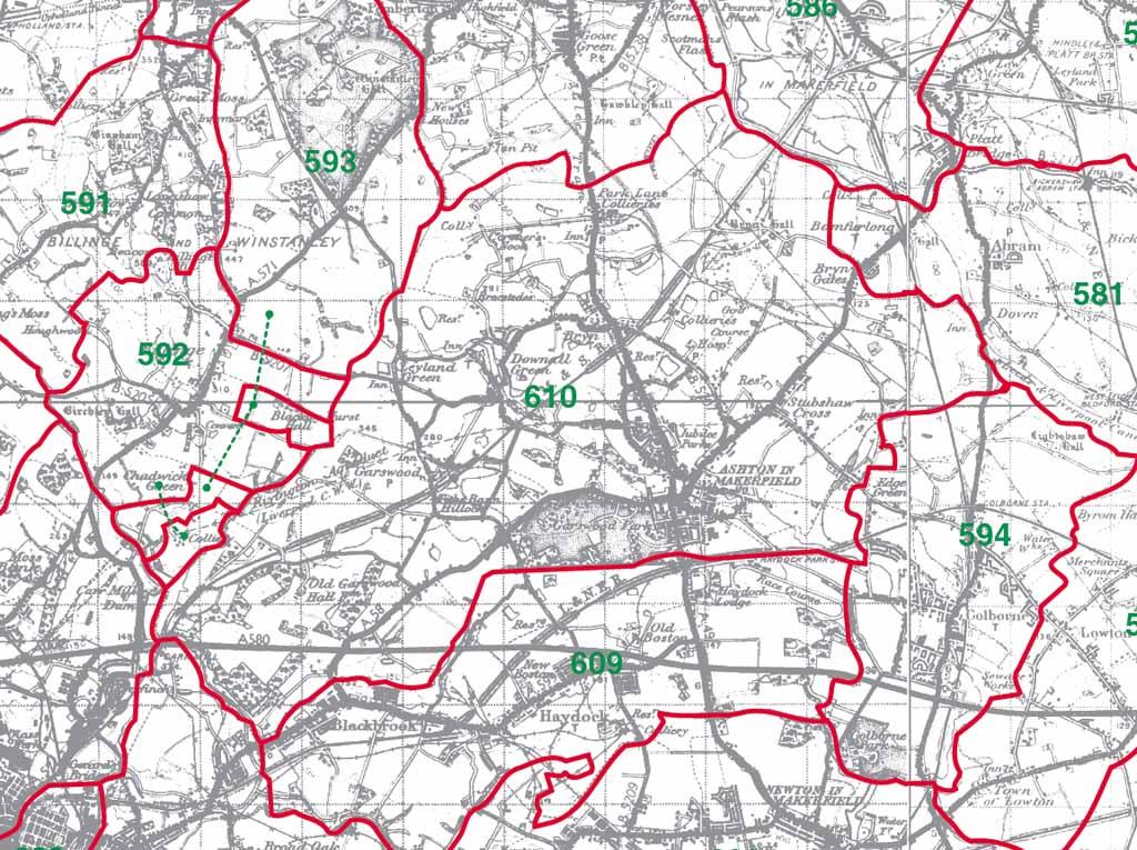 Ashton-in-Makerfield Map