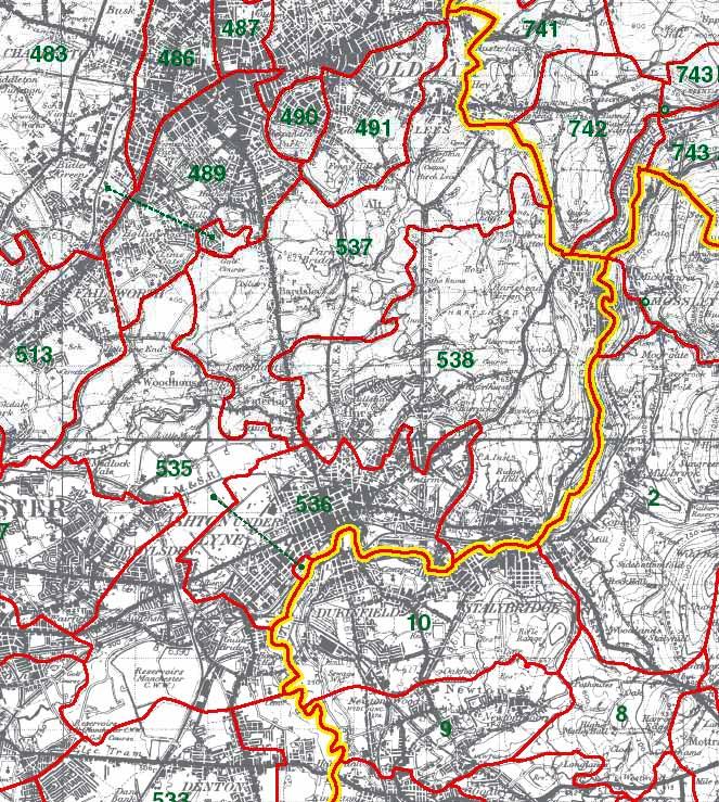Ashton under Lyne Map