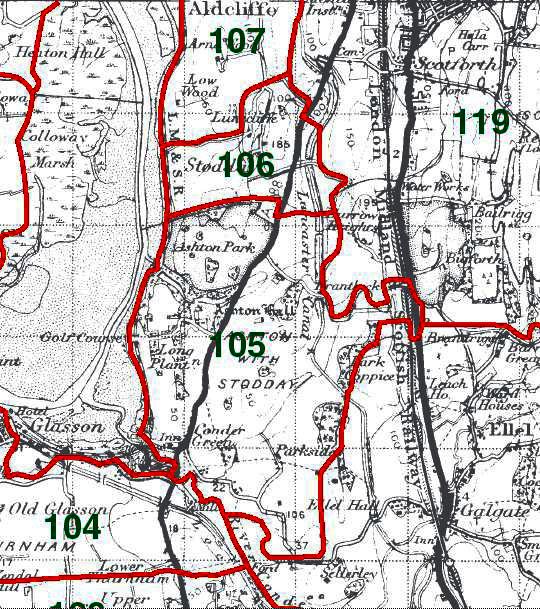 Ashton with Stodday Map