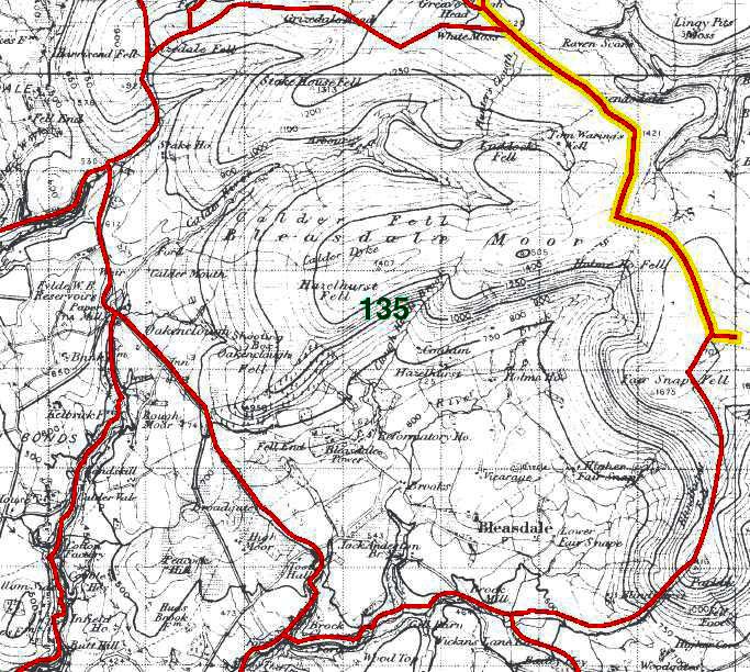 Bleasdale Map