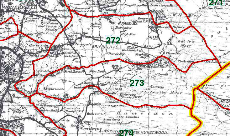 Briercliffe and Extwistle Map