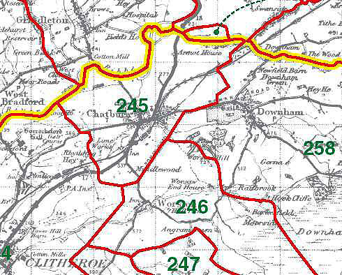 Chatburn Map