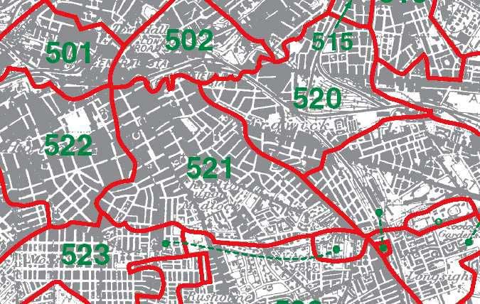 Chorlton on Medlock Map