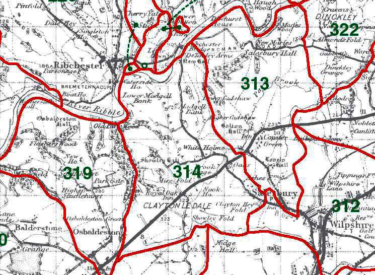 Clayton le Dale Map