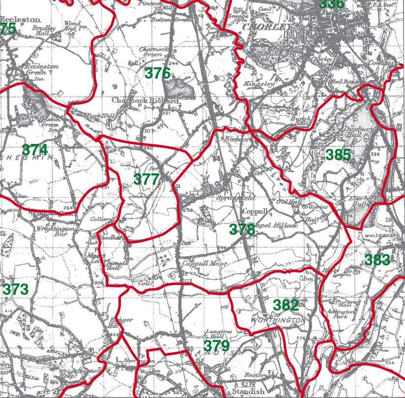 Coppull Map