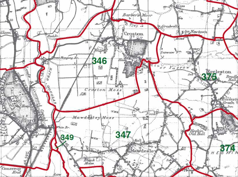 Croston Map