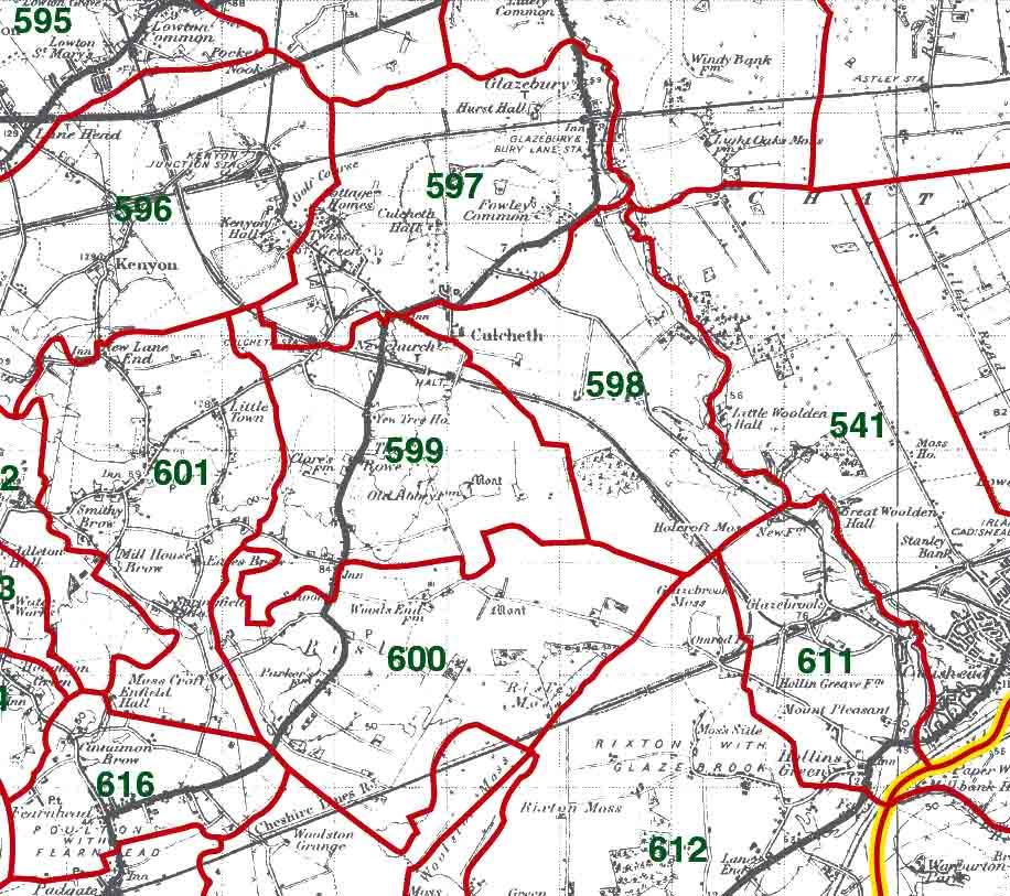 Culcheth Map
