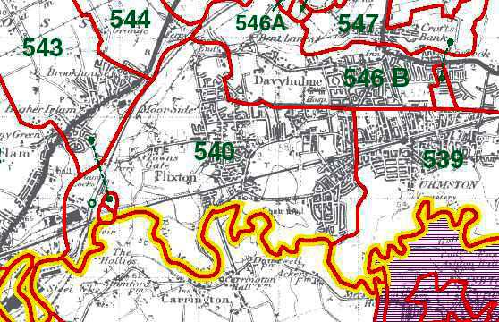 Flixton Map