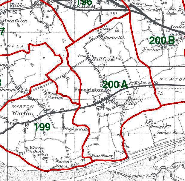 Freckleton Map