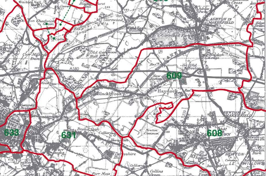 Haydock Map