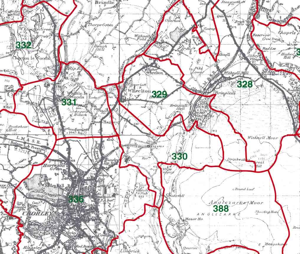 Heapey Map