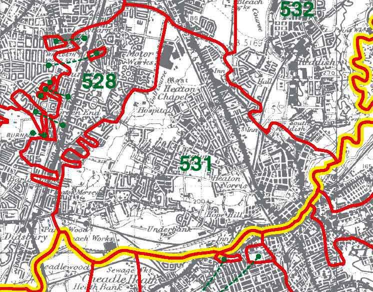 Heaton Norris Map