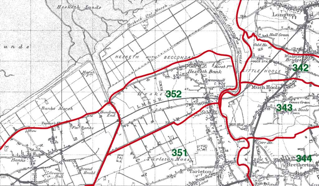 Hesketh with Beconsall Map