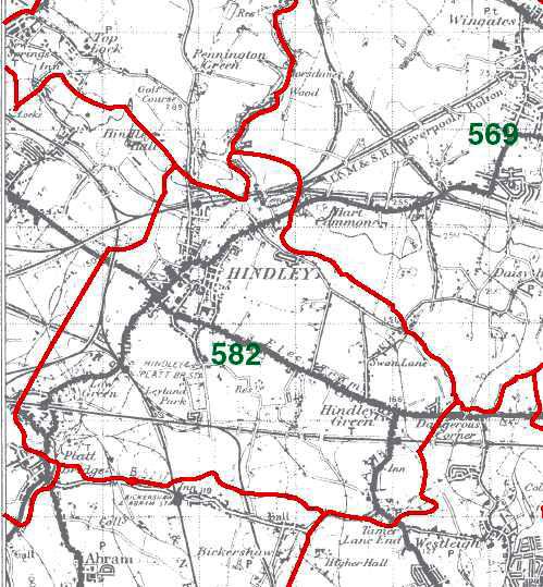 Hindley Map