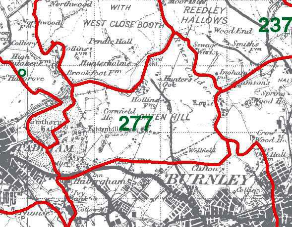 Ightenhill Park Map
