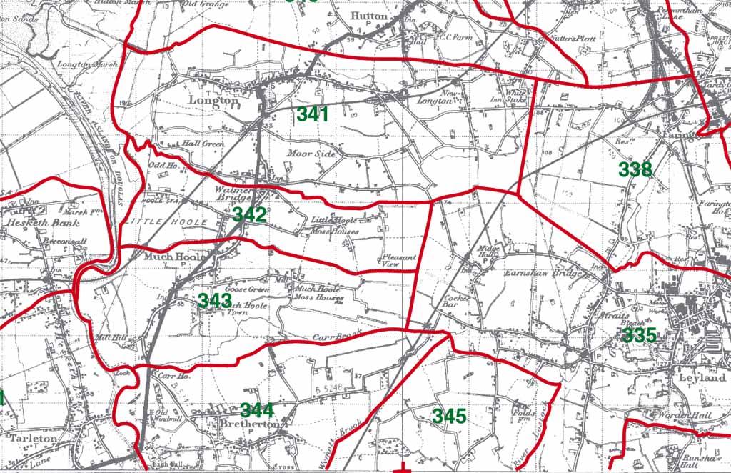 Little Hoole Map