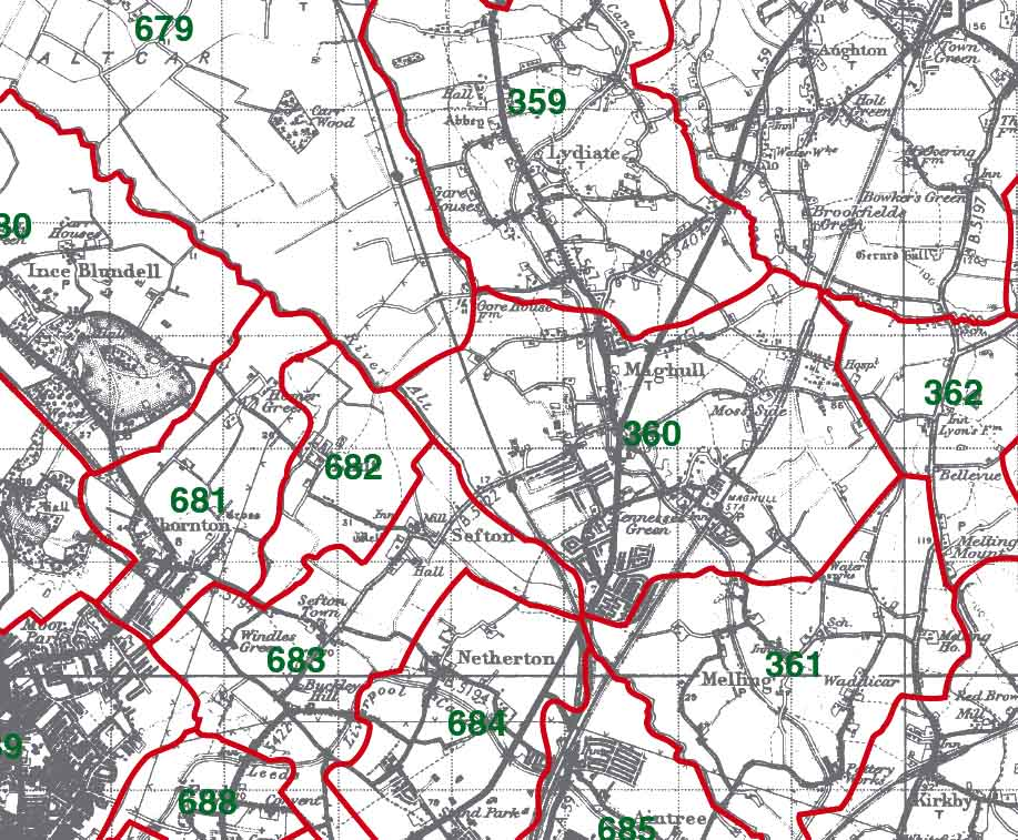 Maghull Map