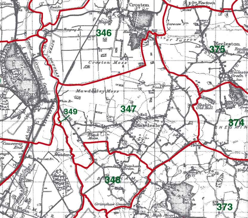 Mawdesley Map