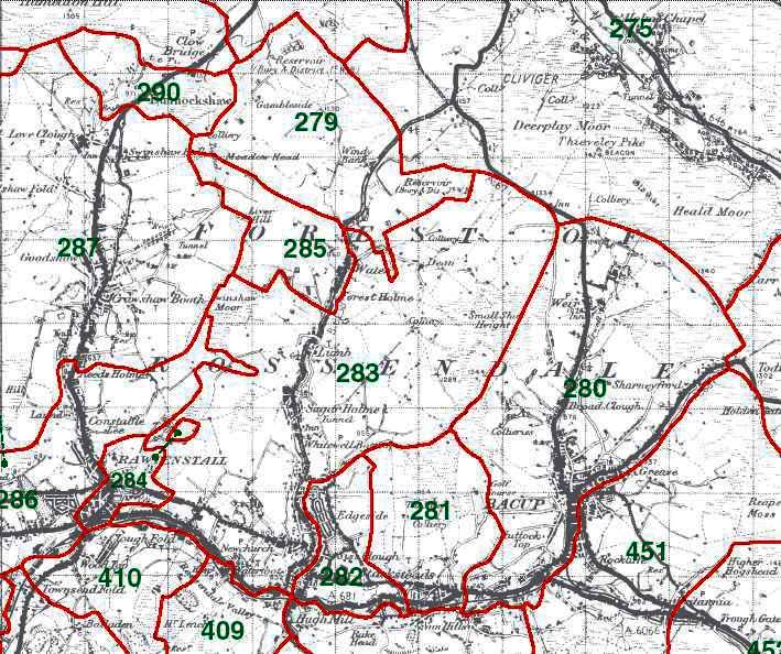Newchurch in Rossendale Map