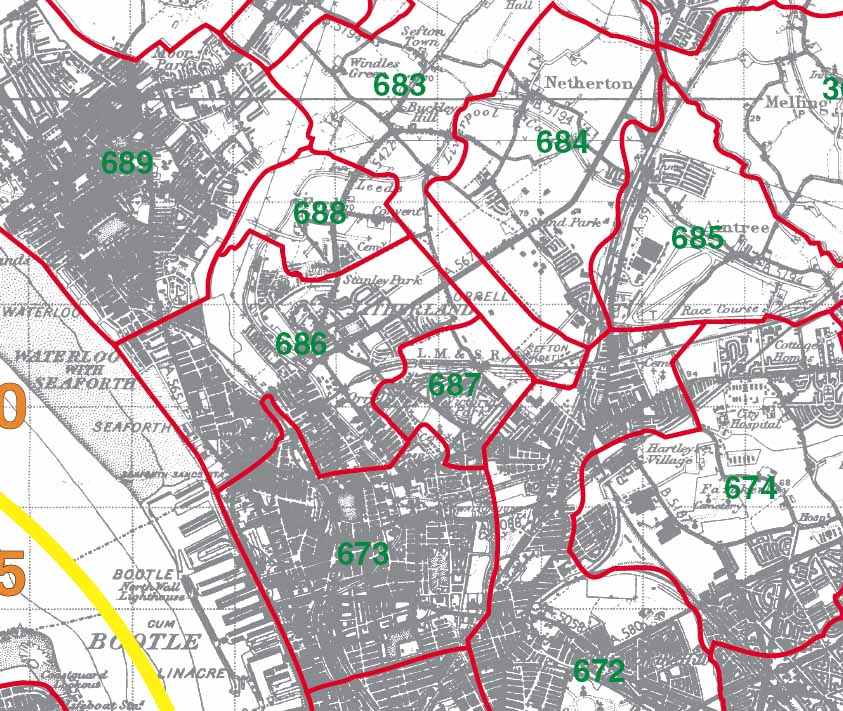 Orrell Map