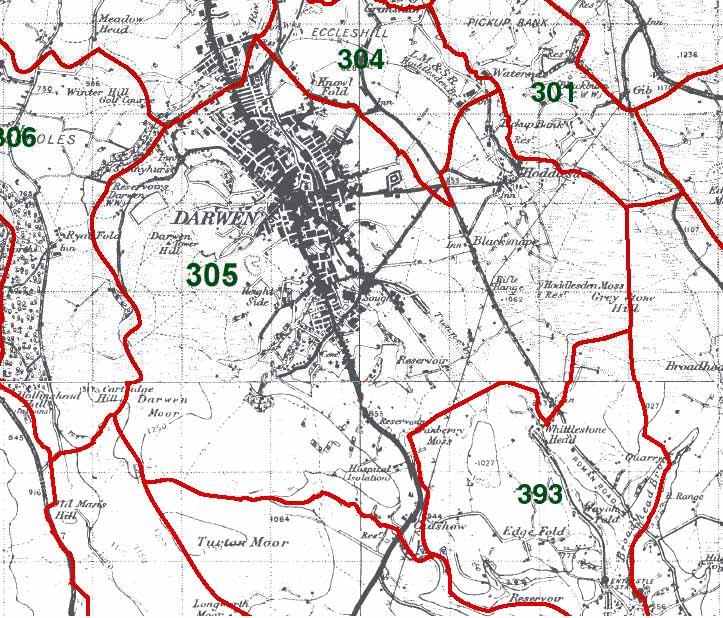 Over Darwen Map