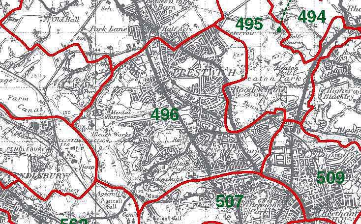 Prestwich Map