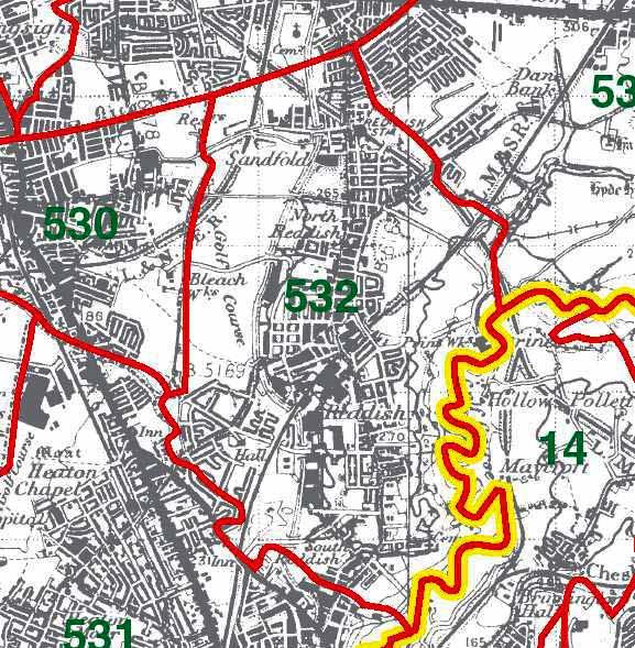 Reddish Map