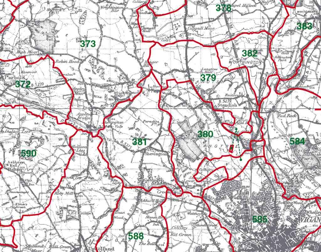 Shevington Map