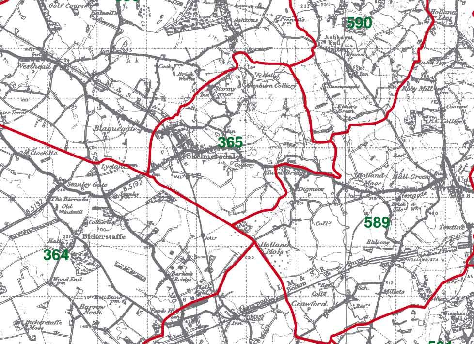 Skelmersdale Map